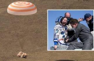 ISS'te 6 ay kalan astronot ve kozmonotlar dünyaya...