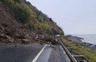 Zonguldak'ta heyelan! Karayolu ulaşıma kapandı