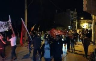 Bursa'da vatandaşlar Filistin'e destek...