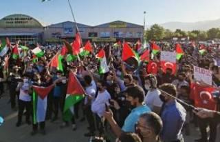 Bursa'da 1500 araçlı Kudüs'e destek konvoyu
