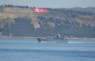 Rus savaş gemisi 'Alexander Otrakovsky' Çanakkale...