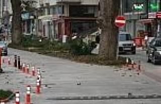 Akçakoca'da Çinar Caddesi İki Yönlü Trafiğe...
