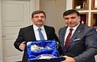 Başkan Koca Bakan İdris Güllüce'yi Ziyaret Etti