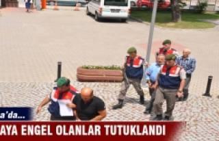 Bursa'da salaya engel olanlar tutuklandı