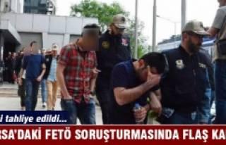 Bursa'daki FETÖ soruşturmasında flaş tahliye