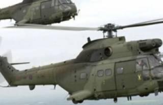 Bursa'ya 3 ABD helikopteri indi