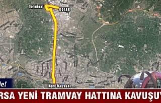 Bursa yeni tramvay hattına kavuşuyor!