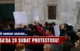 Bursa'da '28 Şubat' protestosu