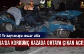 Bursa'da korkunç kazada ortaya çıkan acı! Damat...