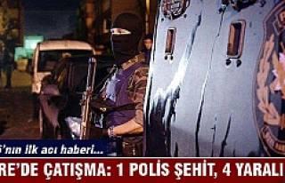 Cizre'de çatışma: 1 polis şehit, 4 yaralı