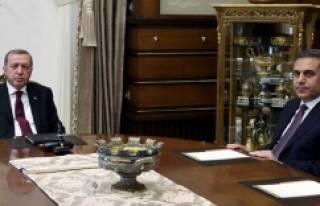 Erdoğan-Fidan görüşmesi sona erdi