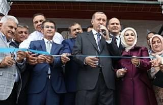 Erdoğan Kıble Dağı'n da ki cami açılışına...