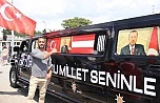 Erdoğan'a 2 milyon euroluk ciple karşılama
