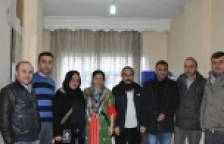 Hdp Ve Dbp'li Başkanlardan Yerel Gazetelere Ziyaret