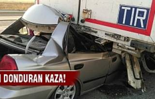 Kan donduran kaza: 2 ölü, 1 yaralı