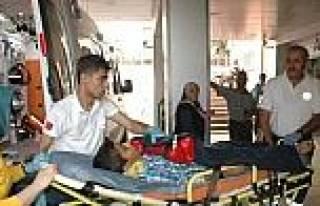 Kaykaydan Düşen Çocuk Yaralandı