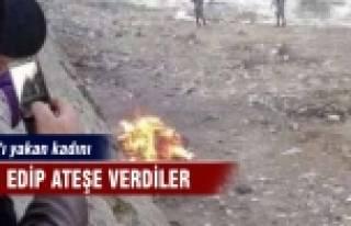 Kuran'ı yakan kadını linç edip ateşe verdiler