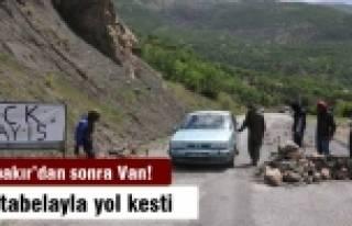 PKK, Diyarbakır'dan sonra Van'da da yol kesti!