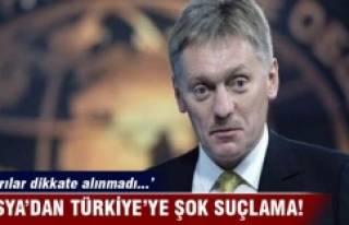 Rusya'dan Türkiye şok suçlama!