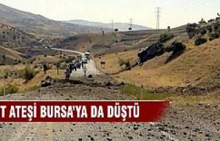 Şehit ateşi Bursa'ya da düştü