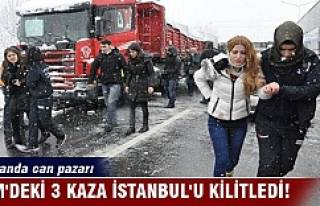 TEM'deki 3 kaza İstanbul'u kilitledi! Otobanda...