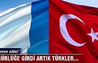 Yürürlüğe girdi! Artık Türkler...