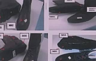 Zehirli ayakkabı modellerinin fotoğrafları yayınlandı