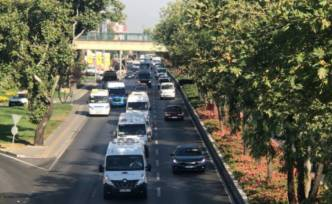 Bursa'da tatil bitti trafik başladı