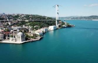 İstanbul Boğazı turkuaza büründü