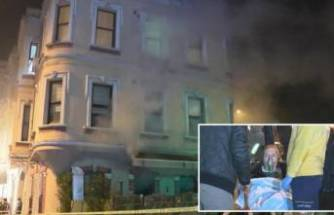Restoranda yangın... Çalışanlar yangını bıraktı gazetecilere saldırdı