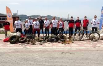 Bursa'da denizden öyle çöpler çıktı ki görenler inanamadı
