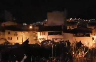 Bursa'da feci kaza! Takla atarak zeytinlik tarlasına uçtu