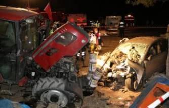 Traktörün önünde uyuyordu! Büyük şok yaşadı! Feci olay…