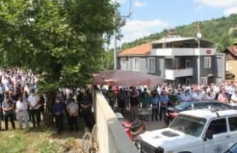 Bursa'da kazada hayatını kaybeden muhtar toprağa verildi