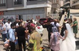 Bursa'da düğün konvoyu kaza yaptı! Damat yaralandı