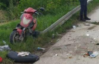 Bursa'da TIR'ın altında kalan motosiklet sürücüsü ağır yaralı!
