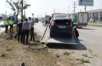 Bursa'da ucuz atlatılan kaza! 3 kişi yaralandı