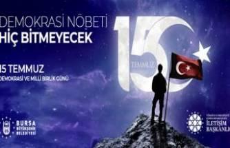 Bursa'da 15 Temmuz şehitleri anma töreni! Canlı yayın...