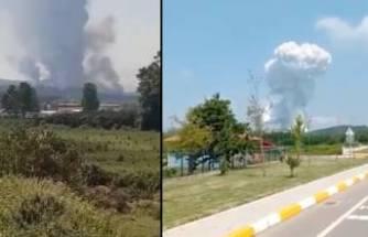 Havai fişek fabrikasında şiddetli patlama!
