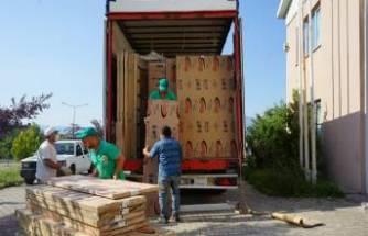 Sel mağduru 60 ailenin mobilyası İnegöl'den