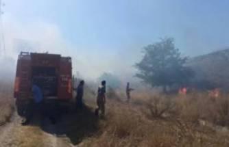 Bursa'da otoyolda sigara izmaritinden yangın çıktı