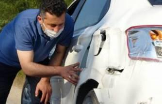Bursa'da dedektif gibi iz sürdü, arabasına çarpan aracı buldu