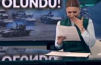 Azeri spiker gözyaşlarını tutamadı! Ağlaya ağlaya sundu...