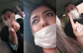 Taksiciden kadın müşteriye şok tehdit!