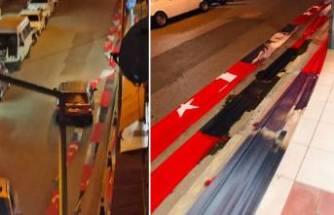 Valilik duyurdu: Türk bayrağının caddeye serilmesine soruşturma