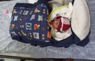 Apartman girişinde bulunan bebeğe devlet koruması