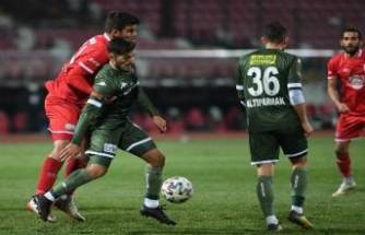 Bursaspor geçen sezonun 8 puan gerisinde kaldı