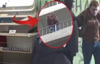 7'nci katta intihara kalkışan genç kızı, polis kurtardı