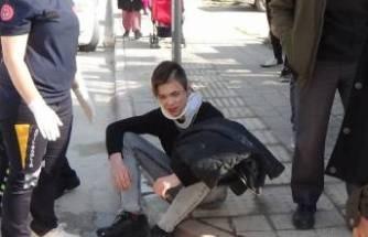 Bursa'da genç sürücü hem yaralandı hemde ceza yedi