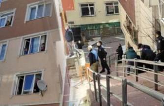 Eşini bıçaklayan koca, polis ikna etmeye çalışırken balkondan atladı